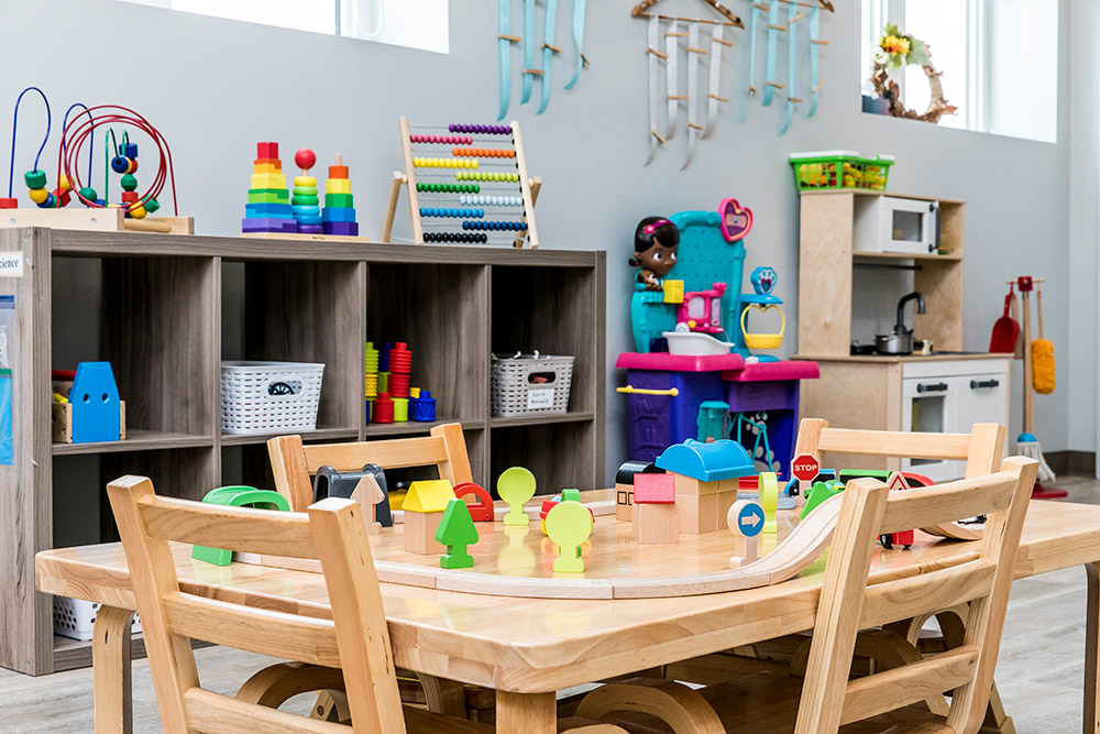 Toddler room with table